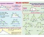 Relaţii metrice (faţa) // Sisteme şi totalitaţi de ecuaţii (verso)