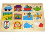 """Puzzle de lemn """" Diversitate"""""""