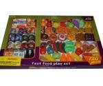 Set de articole din plastic (fructe, legume, carne, produse lactate, băuturi  şi pîine)