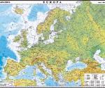 Europa. Harta fizica si a resuselor de subsol 350x500