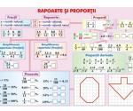 Rapoarte şi proporţii (faţa) // Numere întregi (verso)